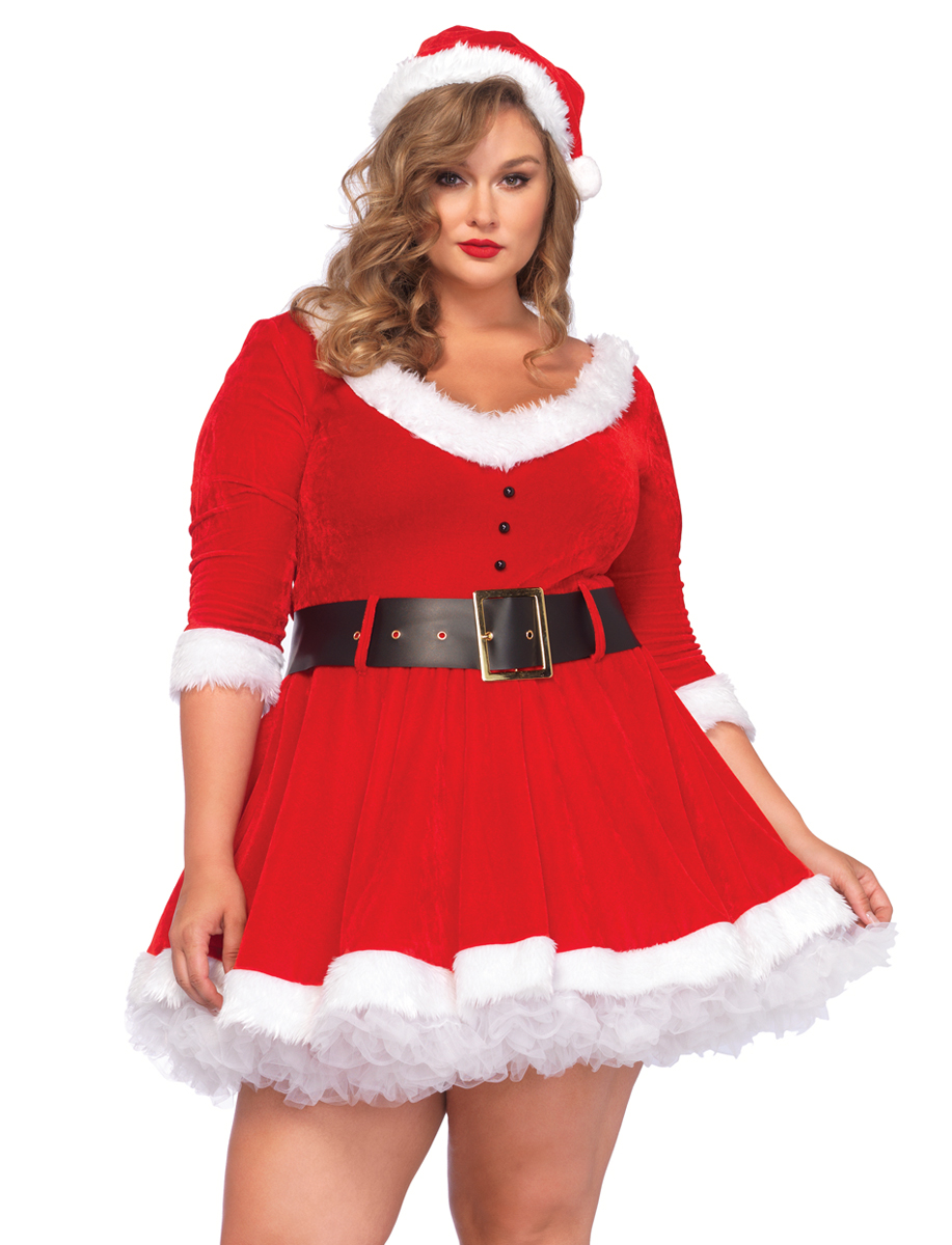 plus size mrs santa christmas costume