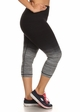 Plus Size Ombre Active Wear Capri Leggings in Grey and Black inset 1