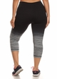 Plus Size Ombre Active Wear Capri Leggings in Grey and Black inset 2