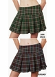 Plus Size Plaid Schoolgirl Mini Skirt in Pink, Grey, Green & Burgundy Plaid inset 1
