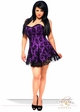 Plus Size Purple Corset Dress with Lace Overlay inset 2