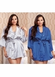 Plus Size Satin 3/4 Sleeve Robe with Sash (available in 12 colors) inset 1