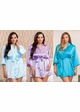 Plus Size Satin 3/4 Sleeve Robe with Sash (available in 12 colors) inset 2