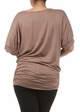 Plus Size Short Sleeve Top with Side Ruching  inset 2