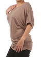 Plus Size Short Sleeve Top with Side Ruching  inset 3