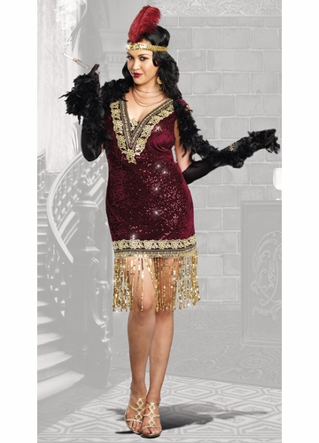 Plus Size Sophisticated Lady Flapper Halloween Costume