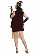 Plus Size Sophisticated Lady Flapper Halloween Costume inset 3