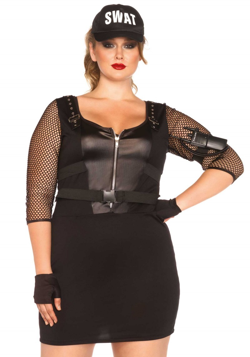 plus size swat office halloween costume