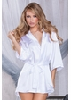 Premium Satin Robe with Crystal Bride Applique inset 1