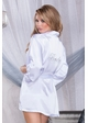 Premium Satin Robe with Crystal Bride Applique inset 3