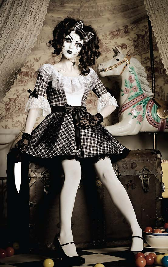 Pretty Creepy Porcelain Doll Costume From Leg Avenue