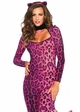 Pretty Pink Pussycat Catsuit Costume inset 1