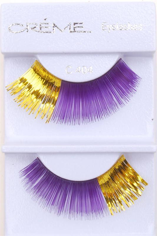 6b84f197ac4 Purple and Gold Fake Lashes