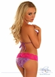 Purple Glitter Lace Trim Pucker Back Bikini inset 1