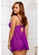 Purple Lace and Mesh Babydoll and Thong inset 3
