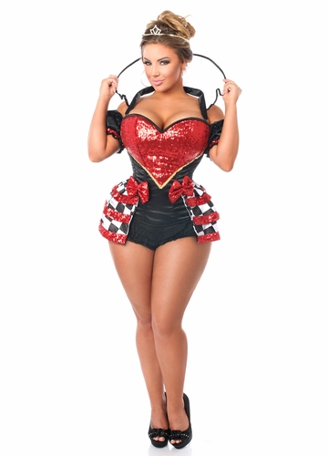 Queen of Hearts Corset Costume up to Size 6X