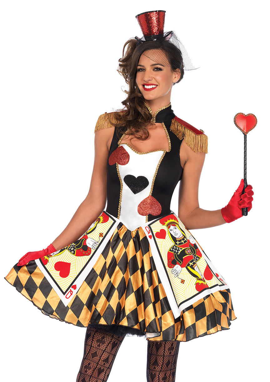 Queen 39 s card guard halloween costume for 90er outfit damen