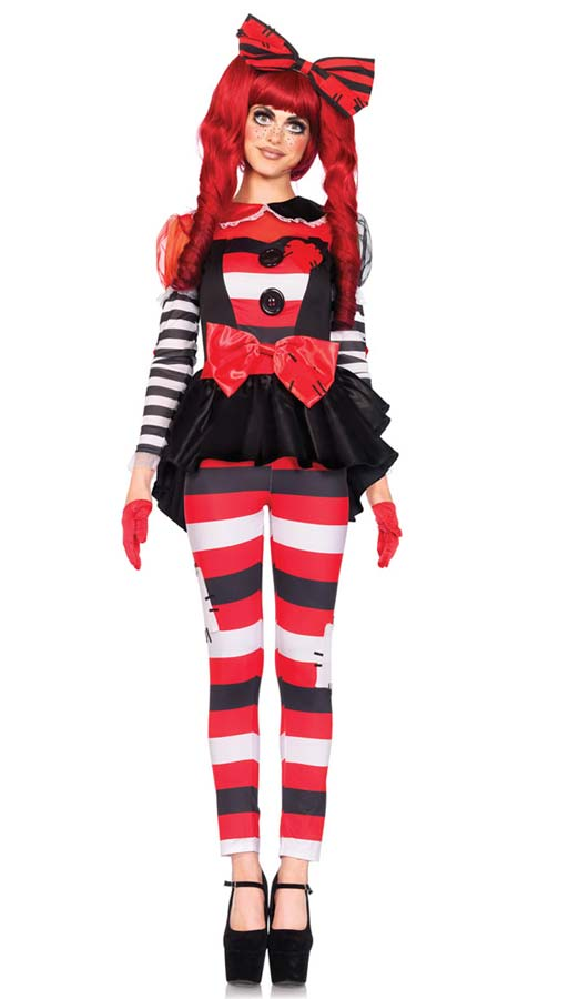 Rag Doll Creepy Doll Costume From Leg Avenue