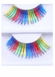 Rainbow Fake Lashes with Blue Metallic Wisps inset 1
