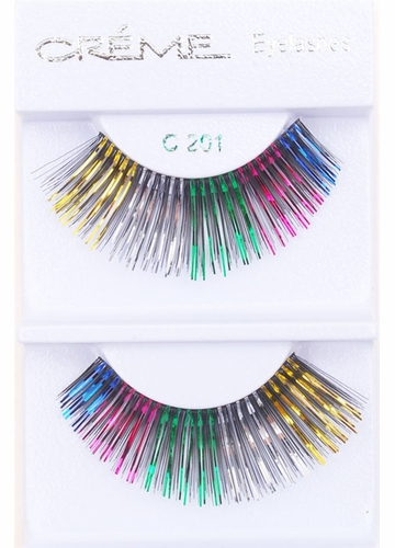 Rainbow Lashes with Rainbow Metallic Wisps