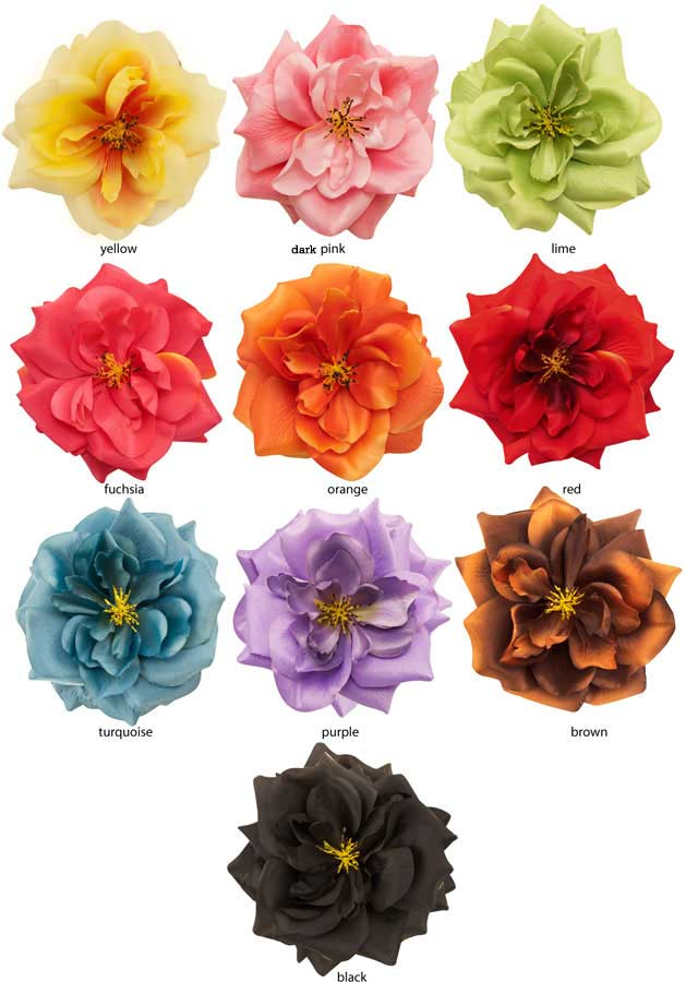 5 Quot Country Rose Flower Hair Clip Available In 15 Colors