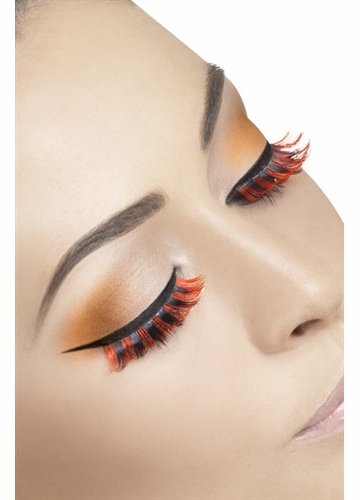 Red and Black False Lashes
