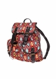 Red Aztec Print Canvas backpack from Zohra inset 1