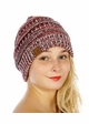 Red, White and Blue with Silver Metallic CC Beanie Hat inset 3