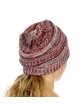 Red, White and Blue with Silver Metallic CC Beanie Hat inset 4