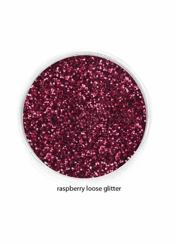 Rich Raspberry Red Color of Luxe Glitter Powder -Eyeliner & Eye Makeup
