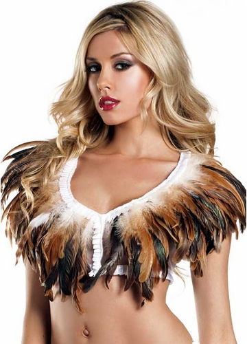 Rio Dancer Feather Top in Brown