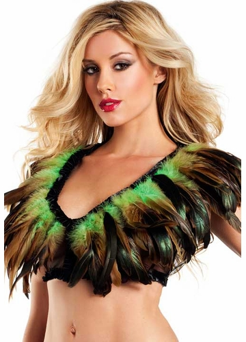 Rio Dancer Feather Top in Green