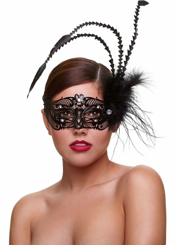 Romance Masquerade Mask with Feathers