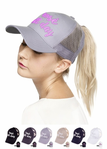 Rose' All Day Color Changing CC Ponytail Hat