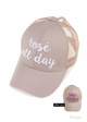 Rose' All Day Color Changing CC Ponytail Hat inset 2