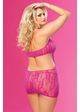 Rose Lace Mini Dress with Cutout Back and G-string inset 2