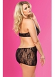 Rose Lace Mini Dress with Cutout Back and G-string inset 3