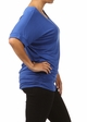 Royal Blue Plus Size Short Sleeve Top with Side Ruching inset 2
