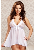 Sasha Lace Bridal Babydoll and G-string