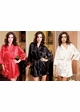 Satin 3/4 Sleeve Robe with Sash (available in 12 colors) inset 3