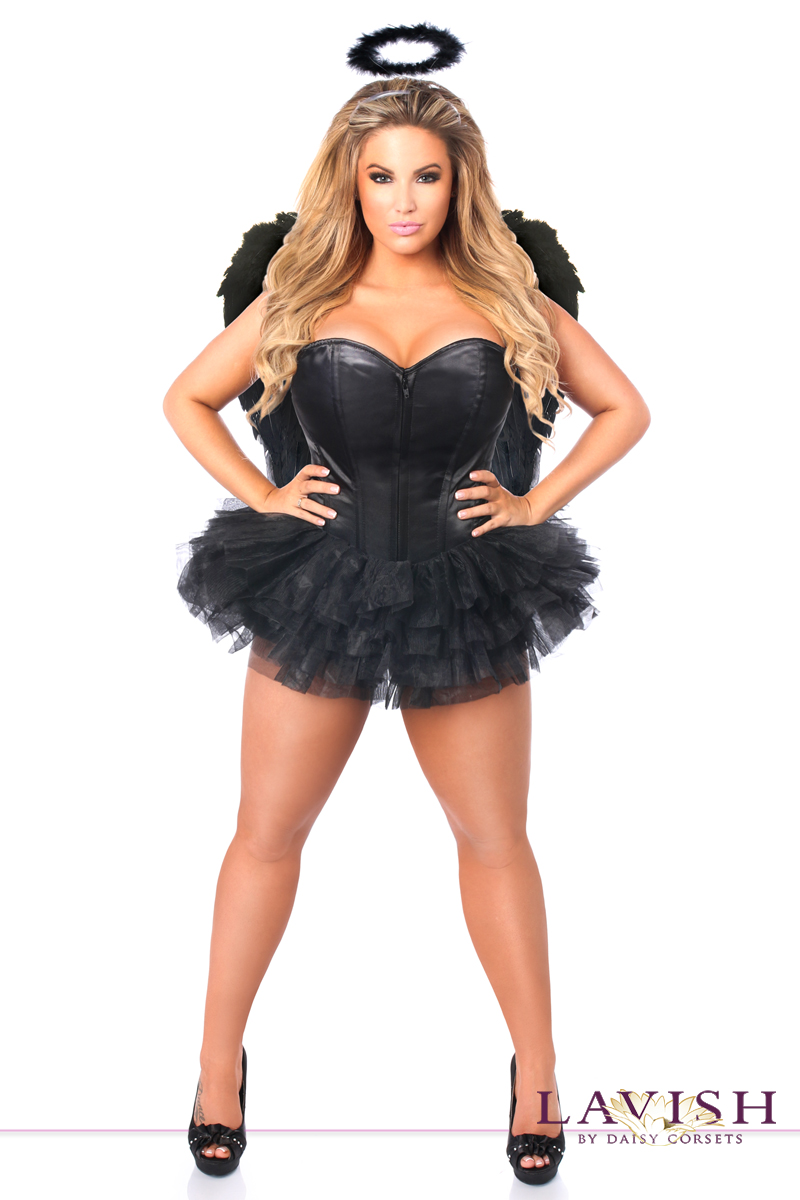 satin dark angel corset halloween costume - Corsets Halloween Costumes
