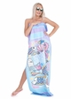Sea Creatures in a Bottle Beach Blanket by Zohra inset 1