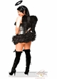 Sequin Corset Dark Angel Costume with Feather Wings inset 1