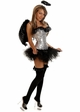 Sequin Corset Dark Angel Costume with Feather Wings inset 2