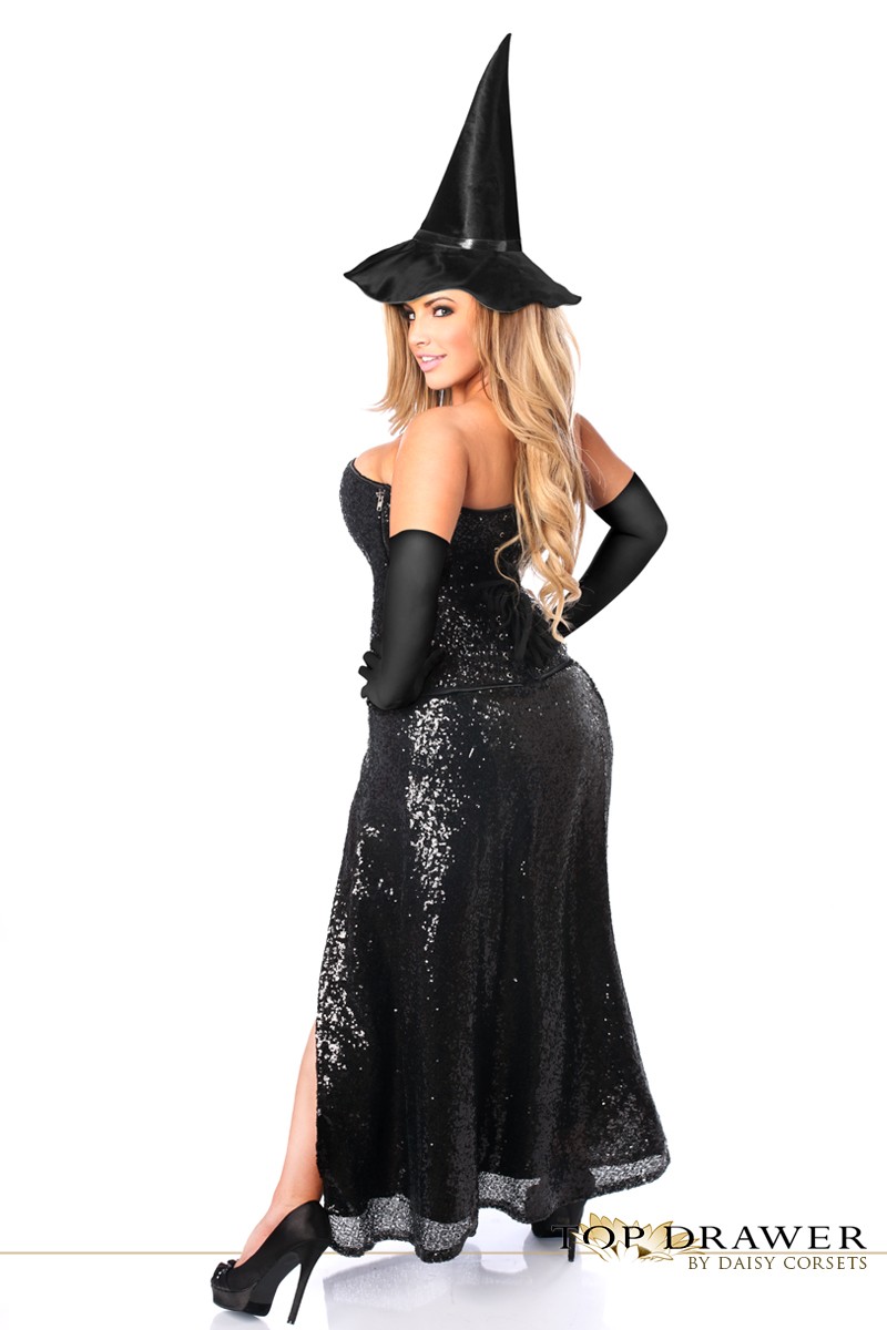 Sequin Witch Corset Halloween Costume