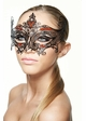Serena Masquerade Mask with Colorful Gems inset 1