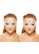 Serena Masquerade Mask with Colorful Gems inset 2