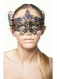 Serena Masquerade Mask with Colorful Gems inset 3