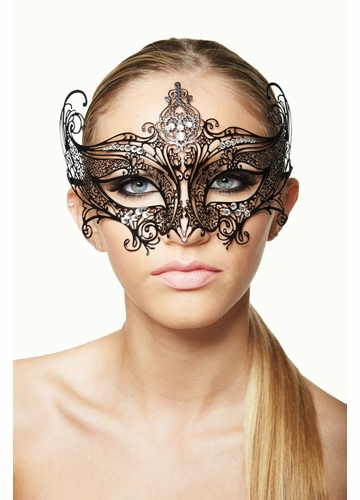 Serena Masquerade Mask with Crystals