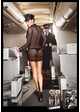 Sexy Airline Stewardess Lingerie Costume, Badge and Hat inset 2